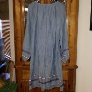 Lord & Taylor Dresses - 🌹Darling chambray dress 🌹